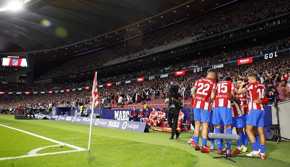 Temporada 2021/22 | Atlético de Madrid - FC Barcelona | Lemar celebración