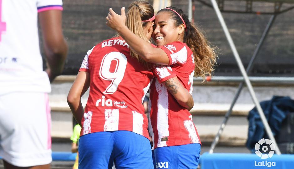 Temporada 21-22   Madrid CFF - Atlético de Madrid Femenino   Deyna y Leicy