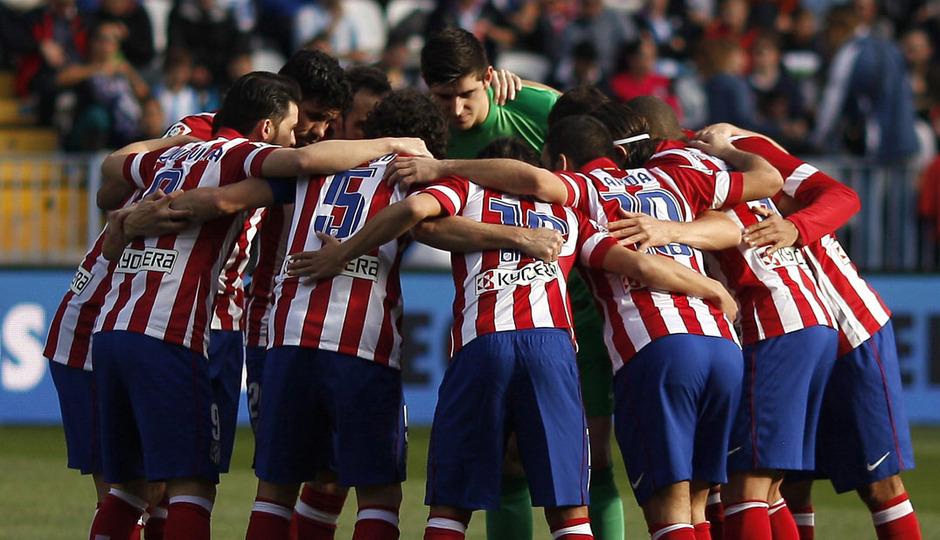 Temporada 13/14 Liga BBVA Málaga - Atlético de Madrid. Equipo.