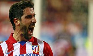 temporada 13/14. Partido Atlético de Madrid - Valencia. Copa del Rey. Celebración Raúl García
