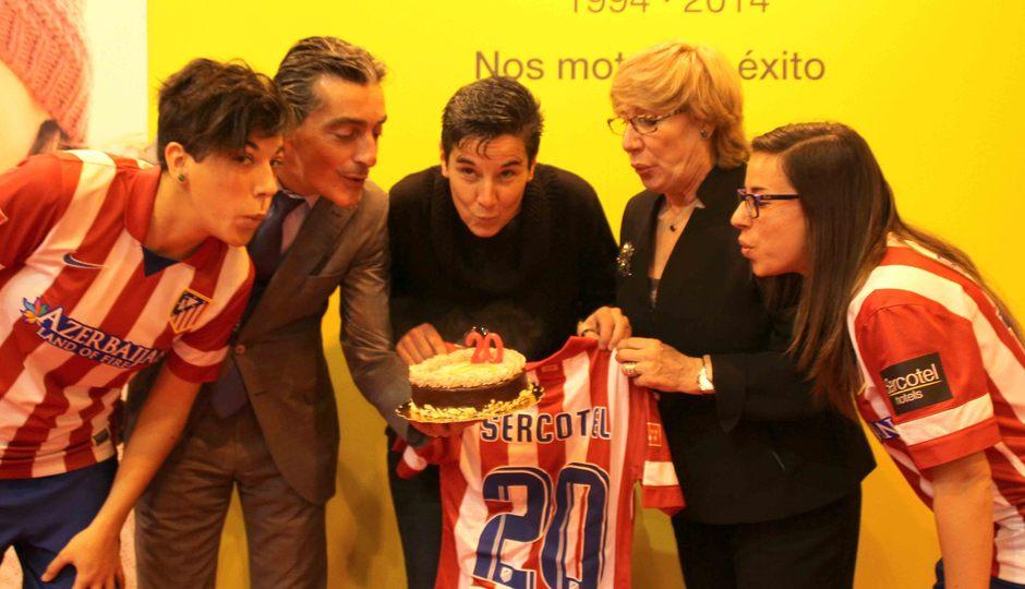 Temporada 2013-2014. Aniversario XX de Sercotel con el Atlético de Madrid Féminas