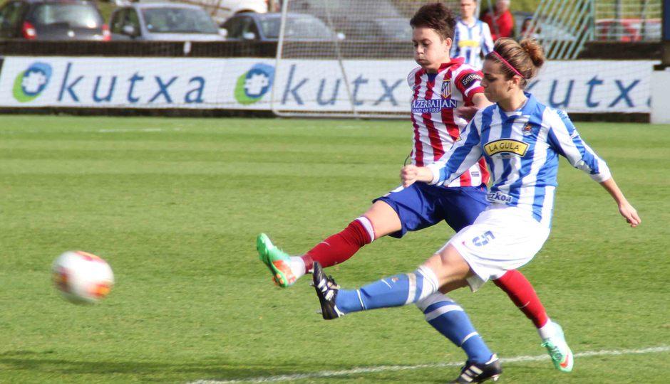 Temporada 2013-2014. Amanda durante el partido ante la Real Sociedad