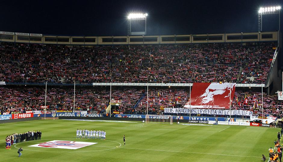 temporada 13/14. Partido Atlético Real Sociedad. Homenaje a Luis Aragonés