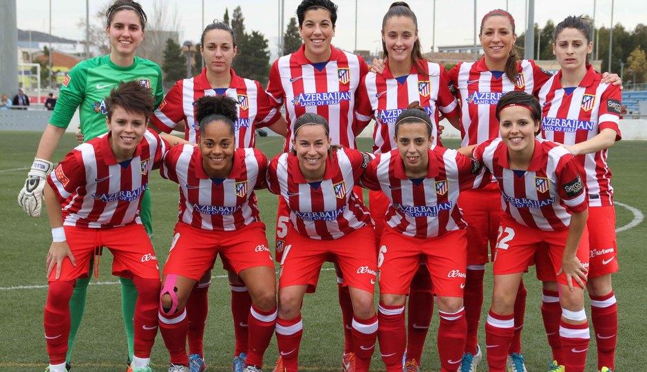 Temporada 2013-2014. Once del Atlético de Madrid Féminas ante el Espanyol