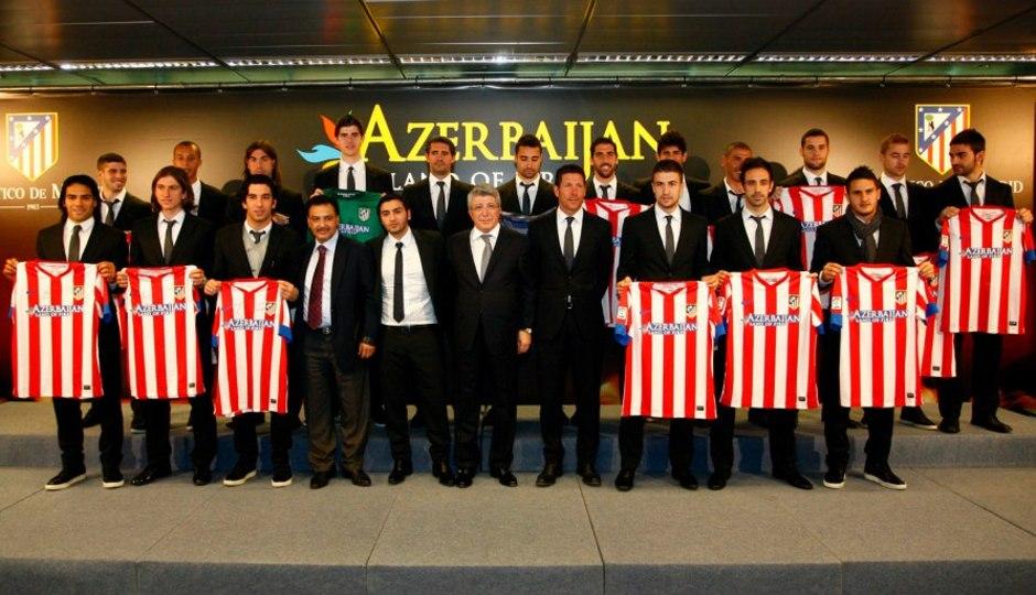 Temporada 2012/13. Presentación del nuevo acuerdo del Atlético de Madrid con Azerbaijan en FITUR