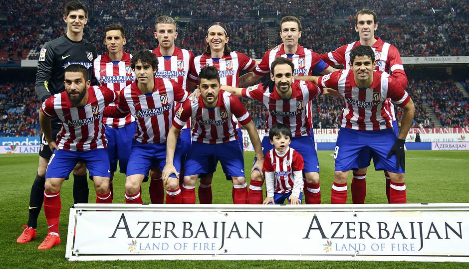 temporada 13/14. Partido Atlético de Madrid-Espanyol. Once titular