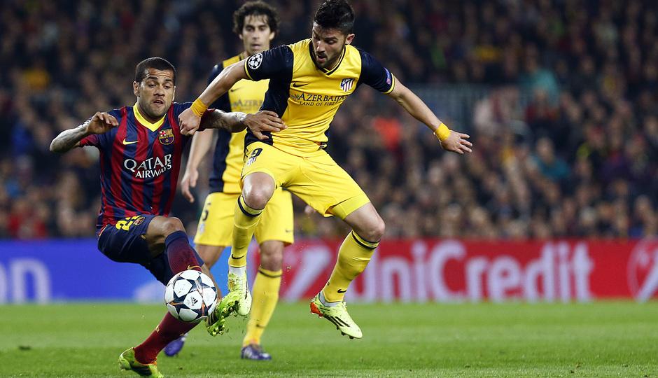 Temporada 13/14. F.C. Barcelona - Atlético de Madrid. Ida cuartos. Champions.