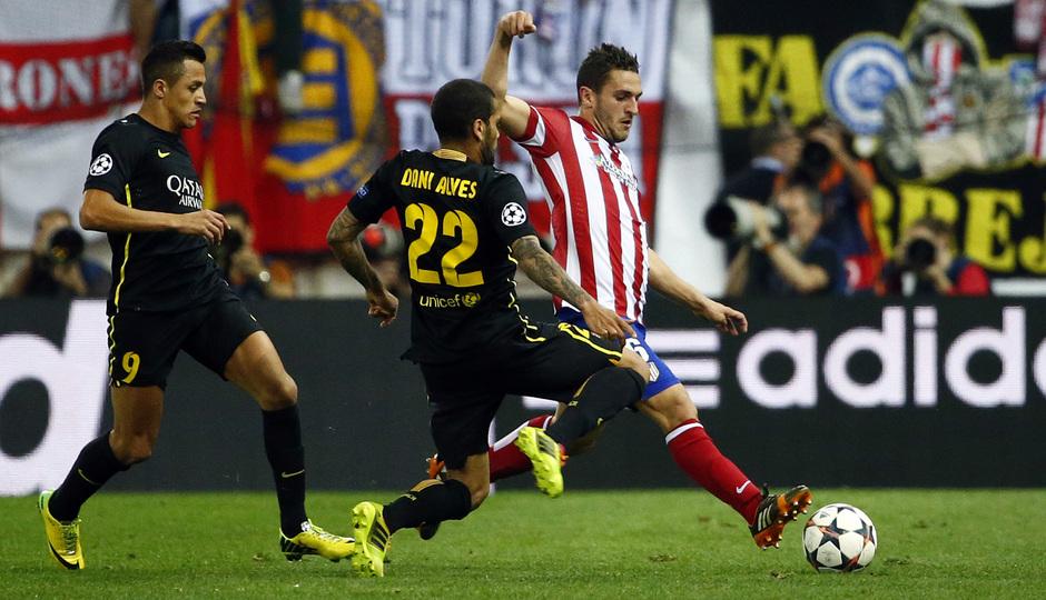 Temporada 13/14. Atlético de Madrid Barcelona. Vuelta cuartos. Champions.
