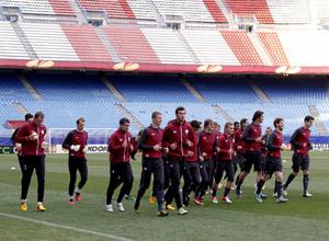 UEFA Europa League 2012-13. Entrenamiento del Rubin Kazan en el Vicente Calderón