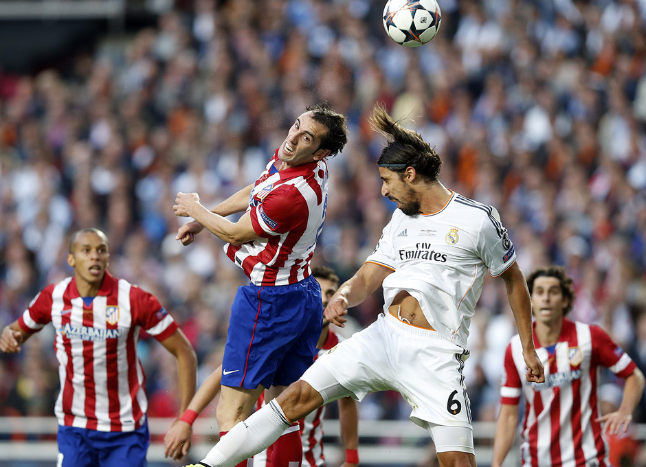 Final Champions League 2014. Real Madrid - Atlético de Madrid. Gol de Godín.