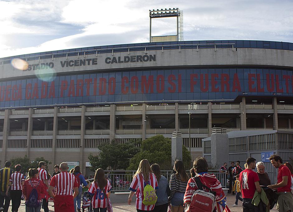 Temporada 13-14. Exteriores Vicente Calderón en la Final de Champions. Foto: A. M.