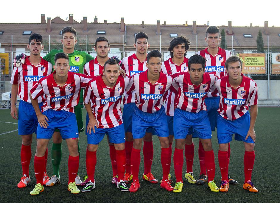 Once del Atlético de Madrid en el partido frente a Boca Juniors en el Mundialito Sub-17
