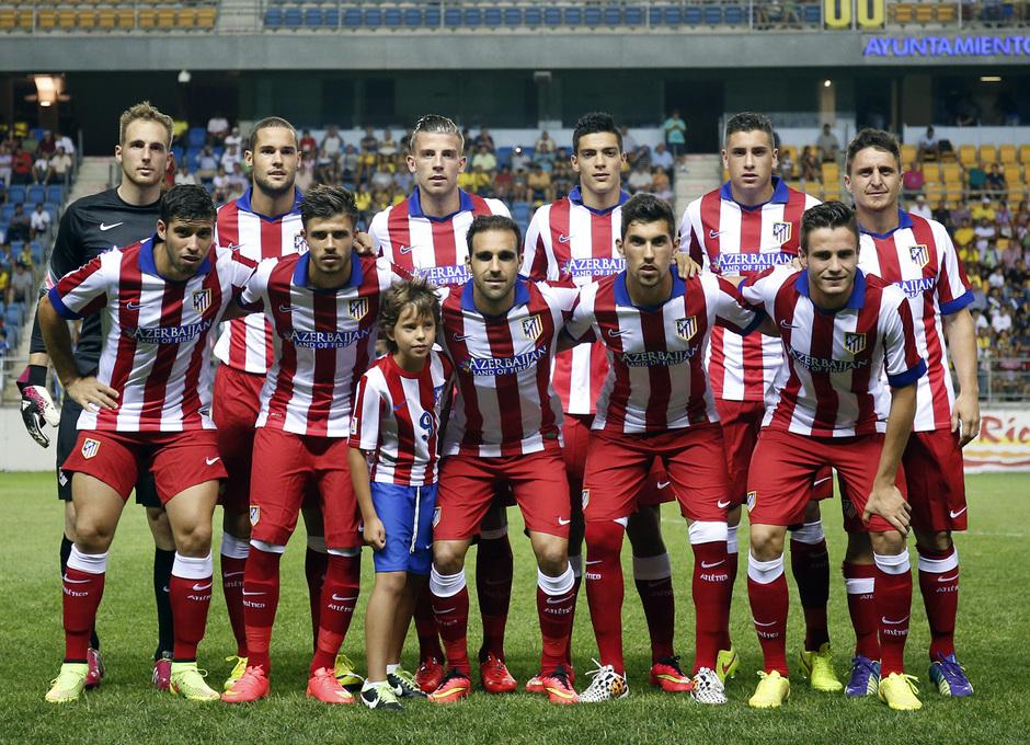 Pretemporada 2014-15. Atlético de Madrid - Sampdoria. Trofeo Ramón de Carranza. Foto del once inicial de nuestro equipo.
