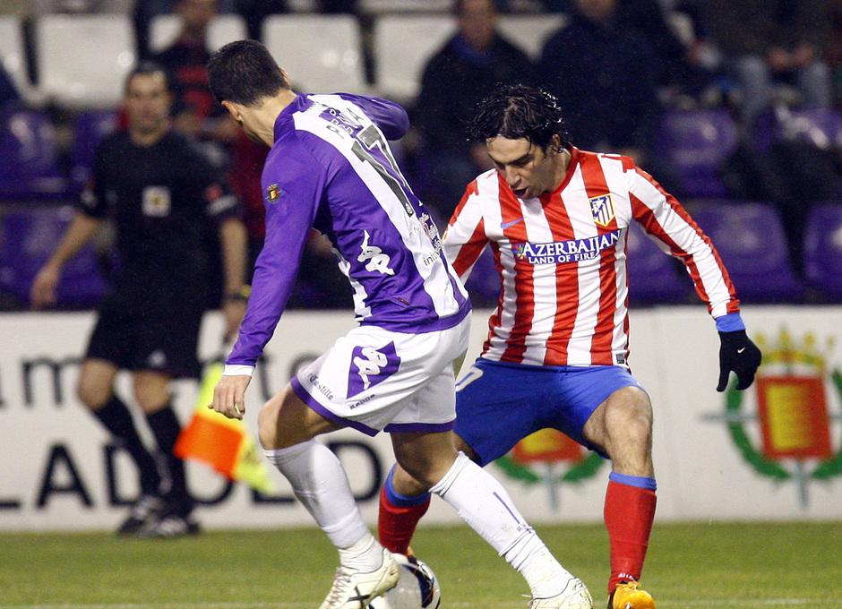 Temporada 2012-13. Arda hizo de las suyas en la medular en el encuentro ante el Real Valladolid en Zorrilla.
