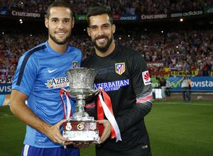 temporada 14/15 . Partido Atlético de Madrid Real Madrid. Supercopa de España. Moya y Mario