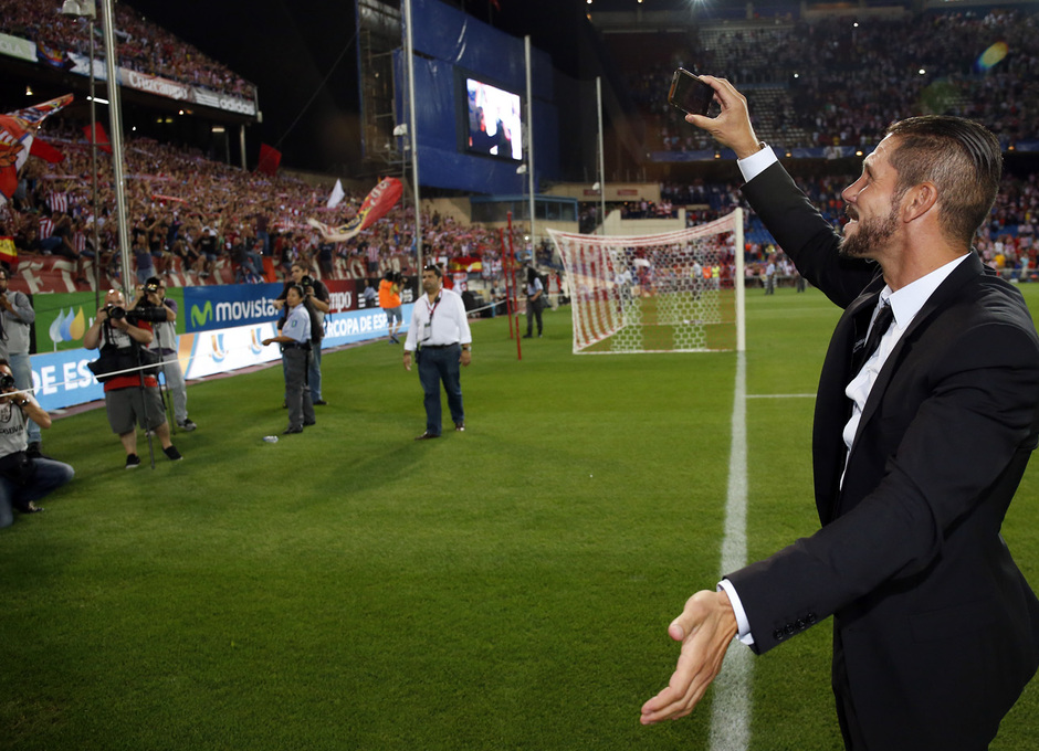 temporada 14/15 . Partido Atlético de Madrid Real Madrid. Supercopa de España. Simeone