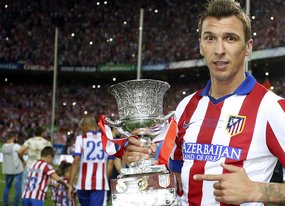 temporada 14/15 . Partido Atlético de Madrid Real Madrid. Supercopa de España. Mandzukic