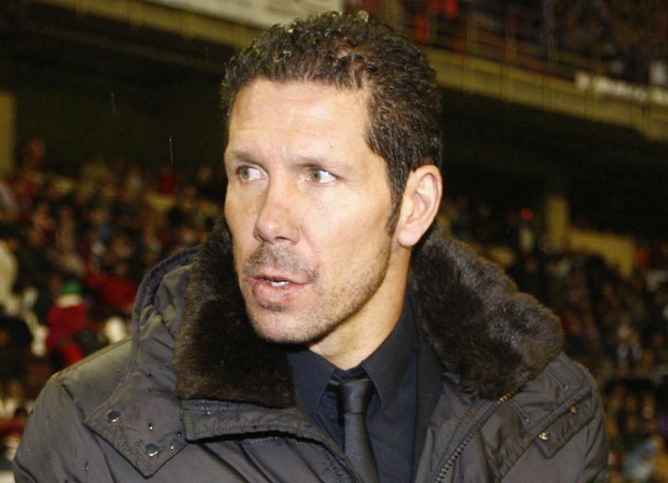 Temporada 2012-13. Diego Pablo Simeone, en los instantes previos al partido de Liga contra el Real Valladolid en Zorrilla.
