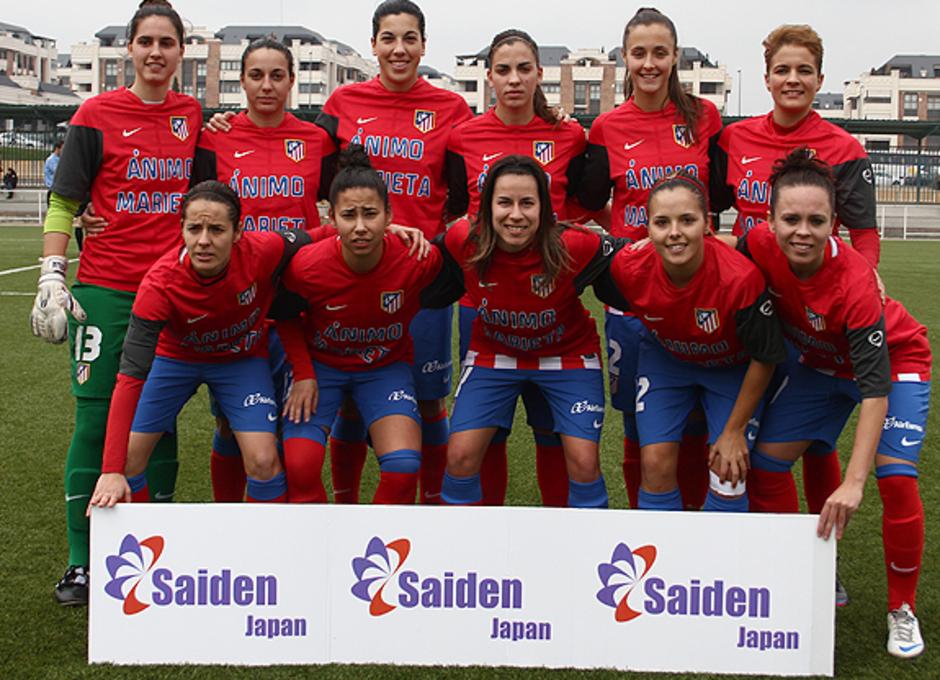 Temporada 2012-2013. Once del Atlético de Madrid Féminas ante SD Lagunak