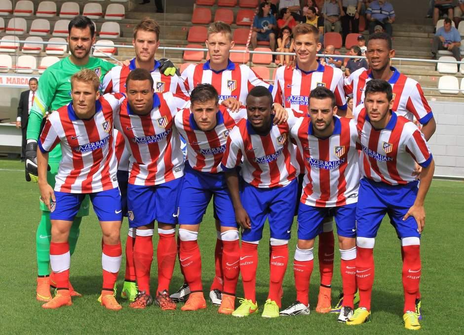Once titular del Atlético de Madrid B frente a Las Palmas Atlético