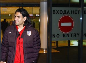 UEFA Europa League 2012-13. Falcao llega al aeropuerto de Moscú