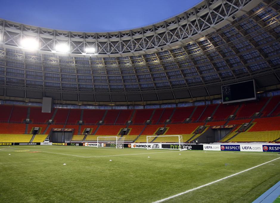 Vista de una de las gradas del estadio olímpico de Luzhnikí, en Moscú