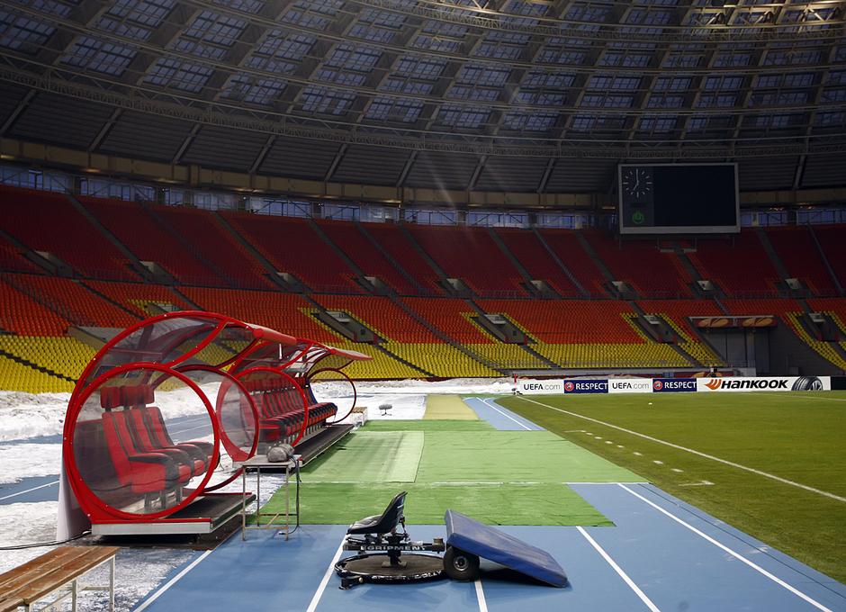 Uno de los banquillos del fabuloso estadio Luzhniki de Moscú