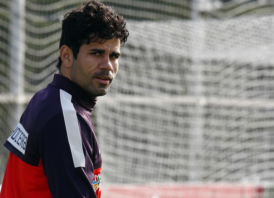 Diego Costa, en la Ciudad Deportiva de Majadahonda