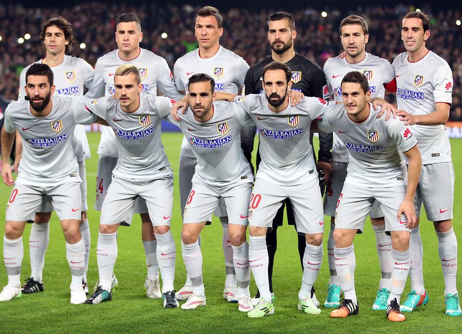 Temporada 14-15. Jornada 18. FC Barcelona-Atlético de Madrid. Once inicial en el Camp Nou.
