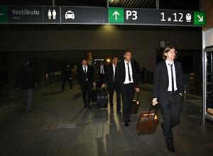 Copa del Rey 2012-13. Varios jugadores llegan a Santa Justa
