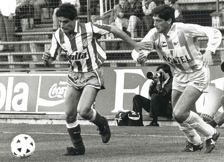 Manolo pugna con Clemente Villaverde en los 90