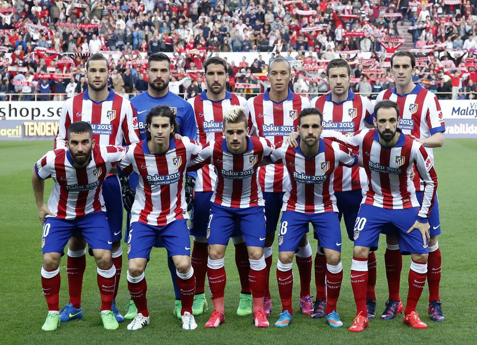 Temporada 14-15. Jornada 25. Sevilla - Atlético de Madrid. Nuestro once en Sevilla.