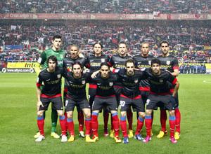 Un once para la historia rojiblanca tras meterse en la final de Copa en Sevilla