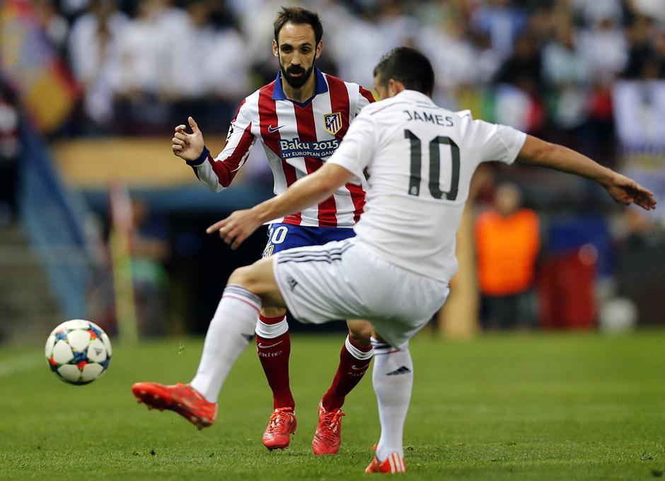 Temporada 14-15. Cuartos de final de la Champions League. Ida. Atlético de Madrid-Real Madrid. Fotografías: Ángel Gutiérrez
