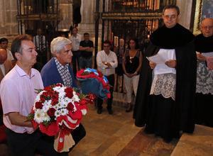 temporada 15/16. Ofrenda floral en la catedral de burgo de Osma. Memorial Jesús Gil