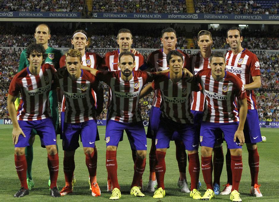 Partido amistoso Atlético de Madrid - Real Sociedad. Once inicial elegido por Simeone