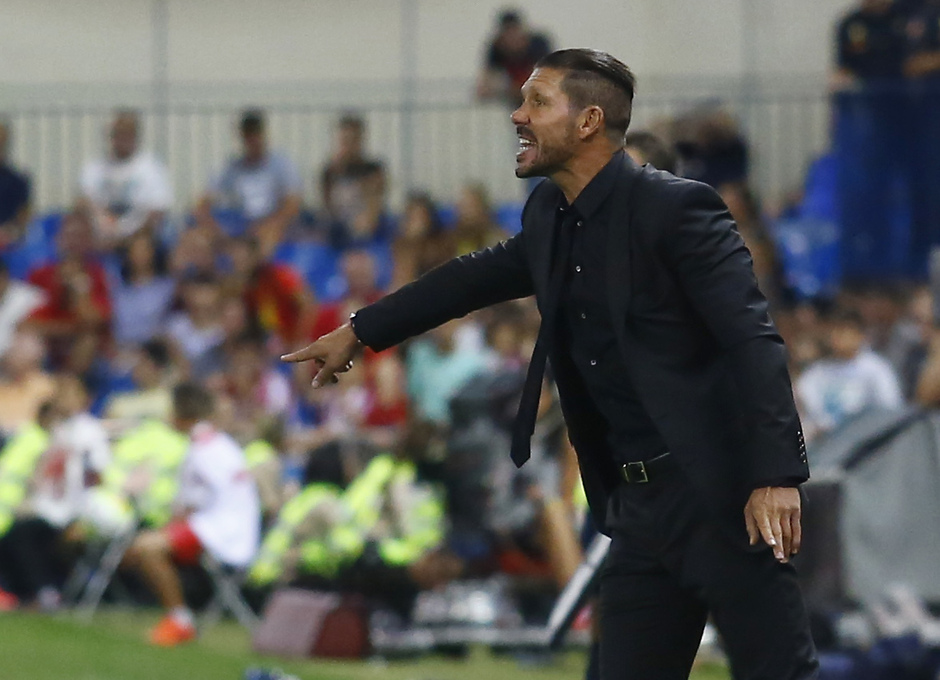 Simeone, durante el Atlético - UD Las Palmas