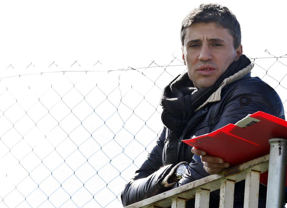 Temporada 12/13. Entrenamiento, Hernán Crespo en el entrenamiento en la Ciudad Deportiva de Majadahonda