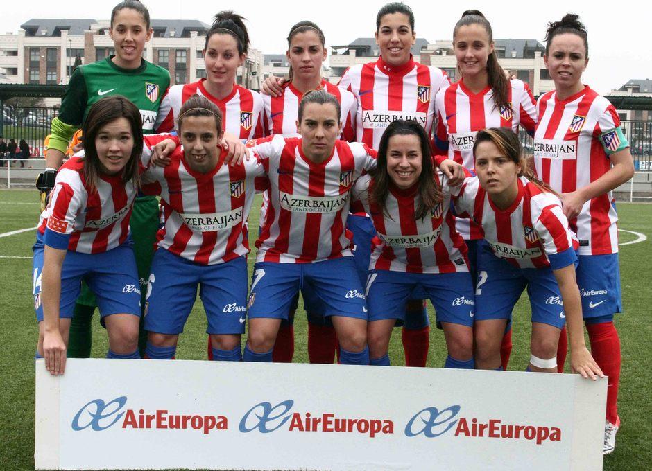 Temporada 2012-2013. Once titular del Féminas ante el UD Collerense