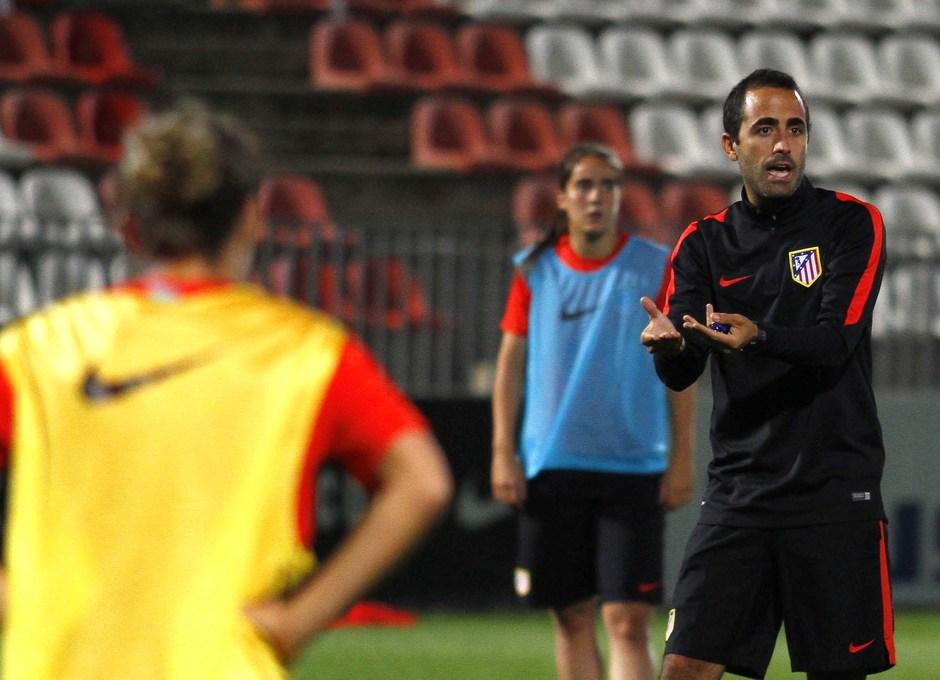 Entrenamiento previo a la ida de los 1/16 de la Women's Champions League en la Ciudad Deportiva.