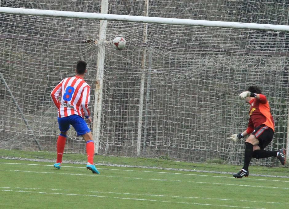 Gol del Atlético C frente al Collado Villalba