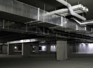Detalle del estado de las obras en el aparcamiento de la Zona VIP del Nuevo Estadio