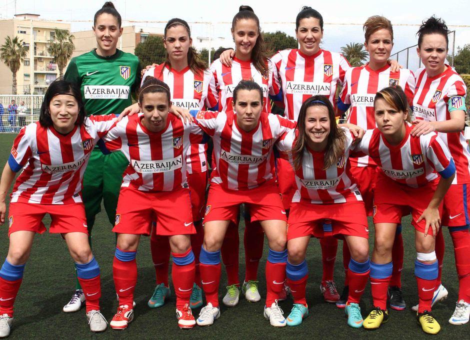 Temporada 2012-2013. Once inicial del Atlético Féminas ante el Levante