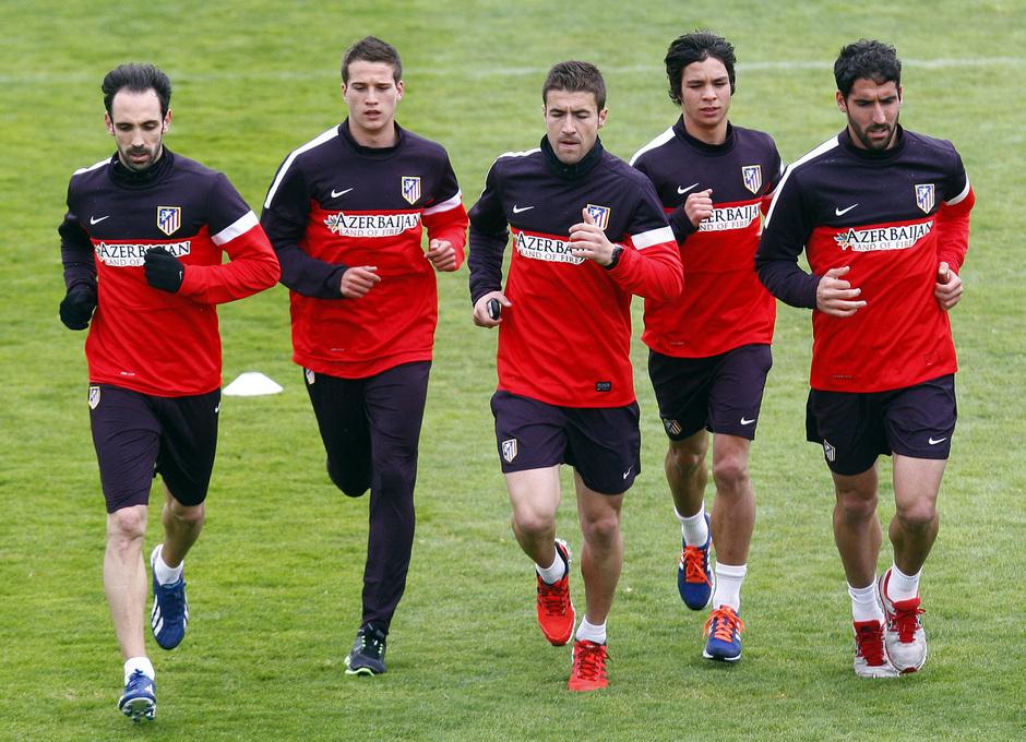 Temporada 12/13. Entrenamiento,jugadores corriendo durante el entrenamiento en la Ciudad Deportiva de Majadahonda