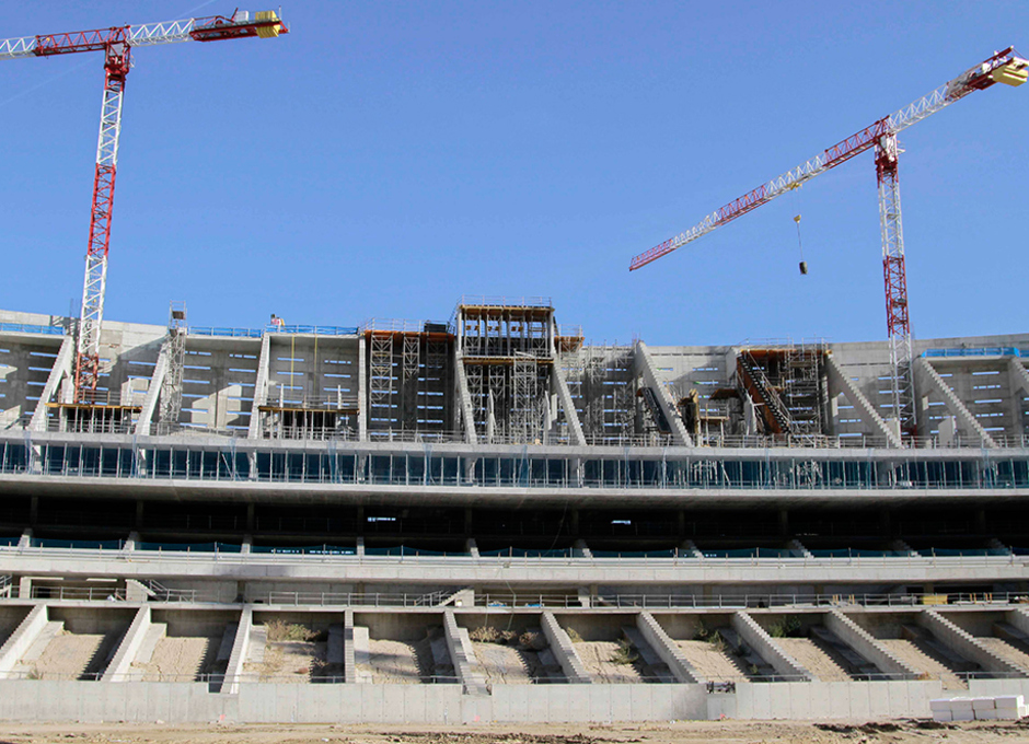 Nuevo estadio. Vista del lateral este