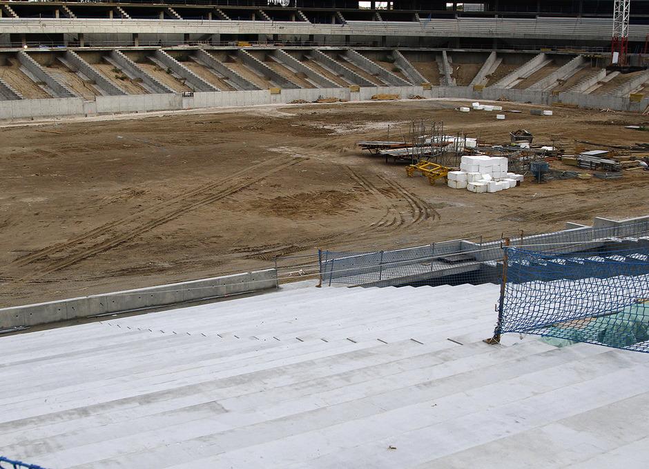 Temporada 15/16. Evolución de las obras del Nuevo Estadio 07/01/2016