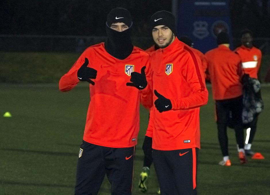 Theo y Andrés, antes de comenzar la sesión de entrenamiento en Dinamarca