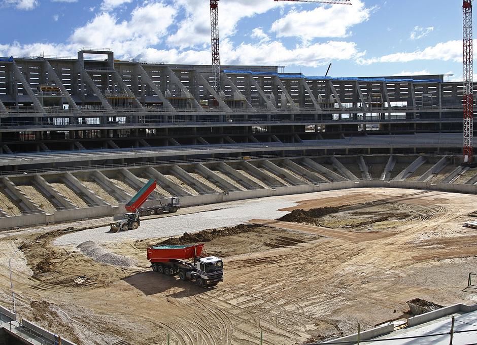 Nuevo estadio. Panorámica del lateral este