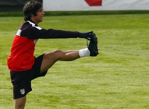 Temporada 12/13. Entrenamiento. Óliver realizando ejercicios durante el entrenamiento en la ciudad deportiva de Majadahonda