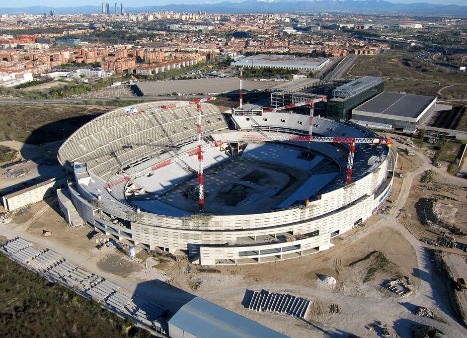 Nuevo estadio. Vista aérea desde el sureste